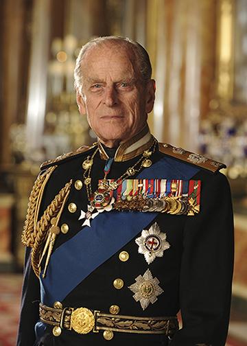 The Duke of Edinburgh in his uniform